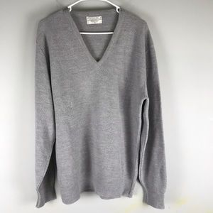 Christian Dior sweater v neck pull over Grey